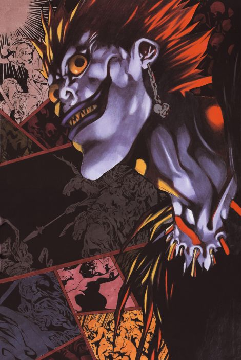 Death Note Series Artbook Ryuk Character Wallpaper