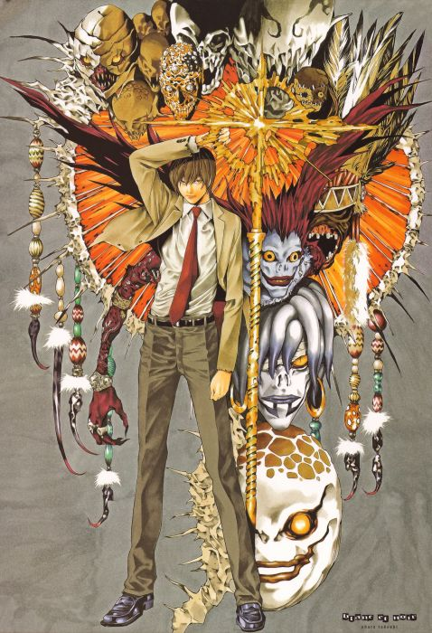 Death Note Series anime character Artbook Light Yagami wallpaper