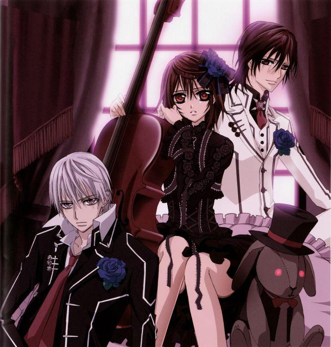 Vampire Knight Series Anime Girl Boys Couple Wallpaper