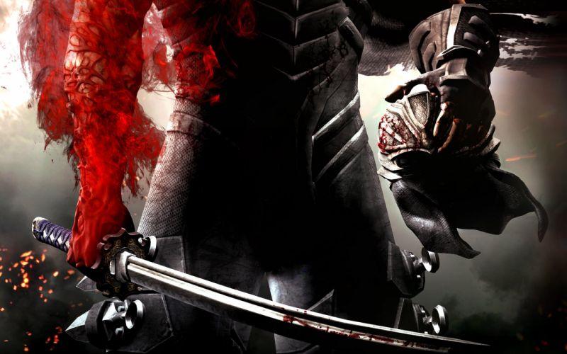 Arts armor blood scars weapons sword red helmet warrior wallpaper