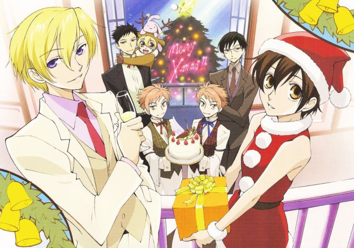 Ouran High School Host Club Series anime group girl wallpaper
