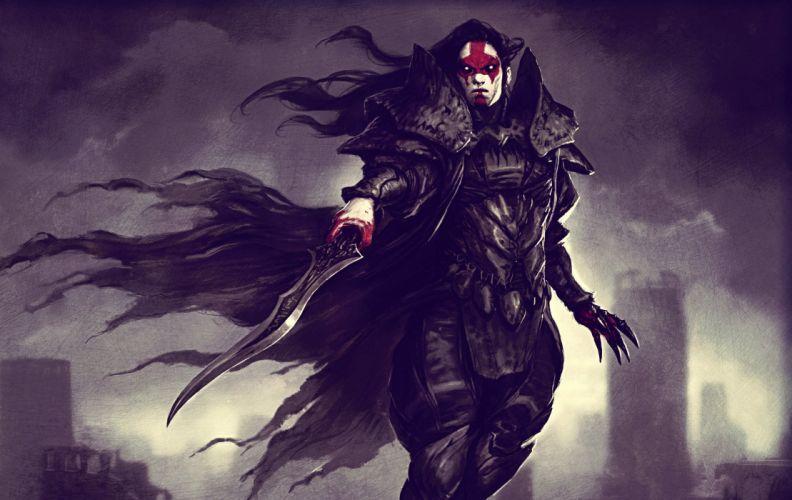 Arts dark blood armor blade vampire warrior jason chan sword wallpaper