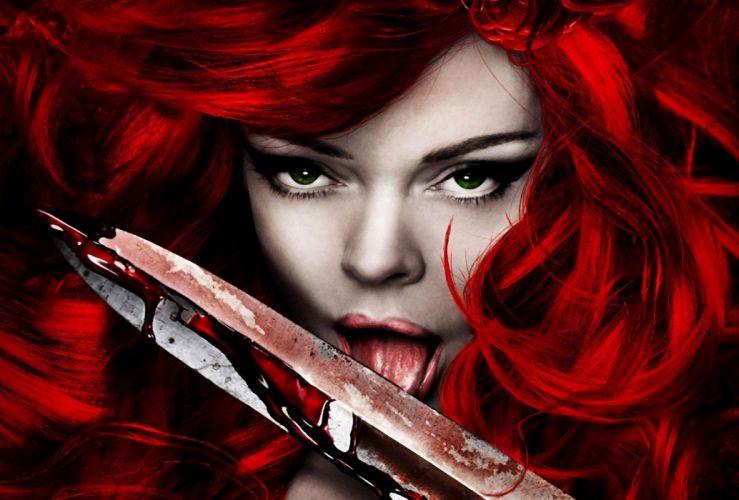 Arts dark faces edge red sonja blade blood wallpaper