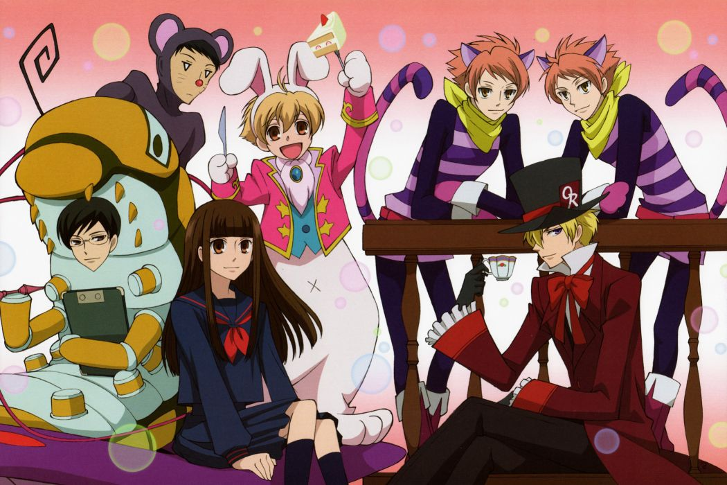 Ouran High School Host Club Series males anime group girl wallpaper