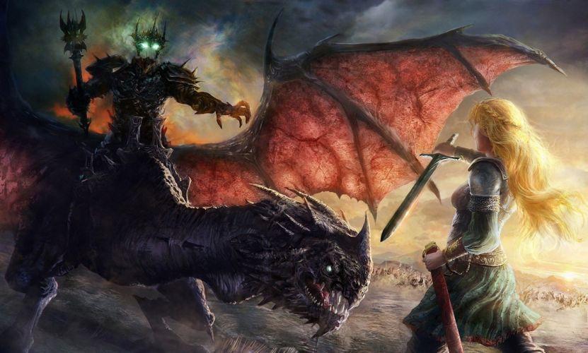 Arts eowyn nazgul david demaret lord of the rings wallpaper