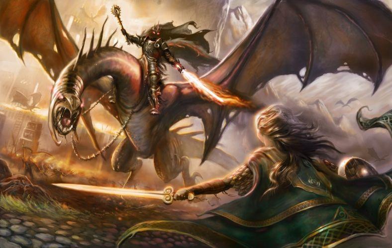 Arts haladdin eowyn eric braddock the lord of the rings nazgul eowyn dragon wallpaper