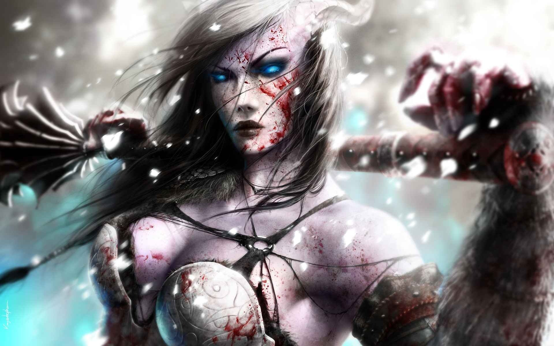 Draenei warrior female art porn image