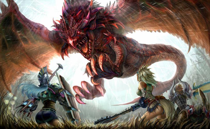 Arts warriors dragon rage weapons magic wings girls wallpaper