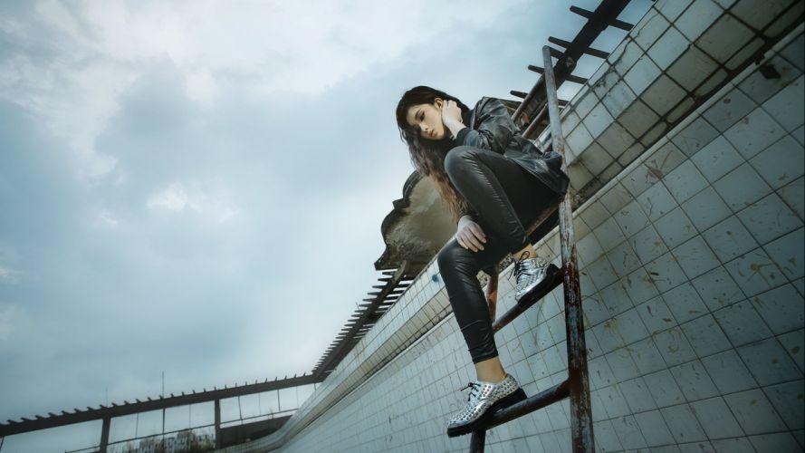 women woman model female asian oriental girl girls style mood wallpaper