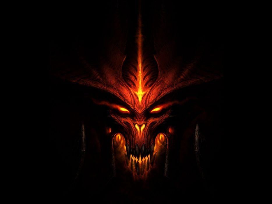 Games dark diablo 3 darkness mug monster wallpaper
