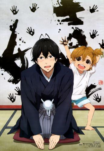 anime children male smile group Barakamon Series Naru Kotoishi Character Seishu Handa cute wallpaper
