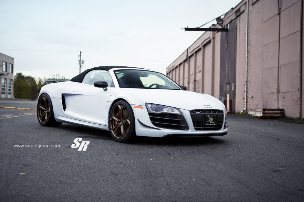 white audi r8 gt spider pur Tuning wheels cars  wallpaper