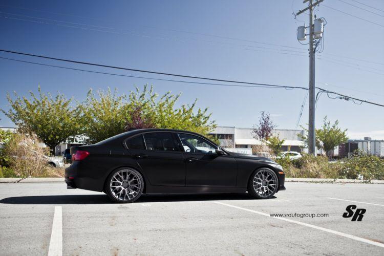 black mat bmw 3-serie pur Tuning wheels cars wallpaper