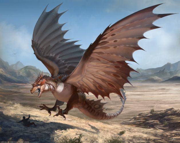 fantasy art artwork creature monster dragon d wallpaper
