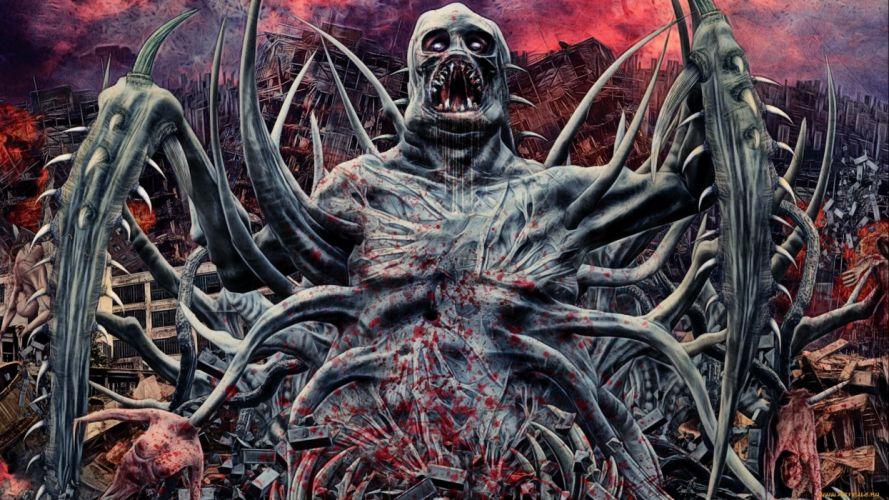 fantasy art artwork creature monster dark blood d wallpaper
