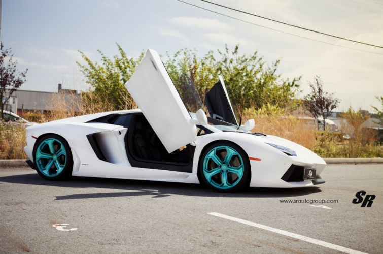 Aventador cars Lamborghini lp700 pur Tuning wheels white wallpaper