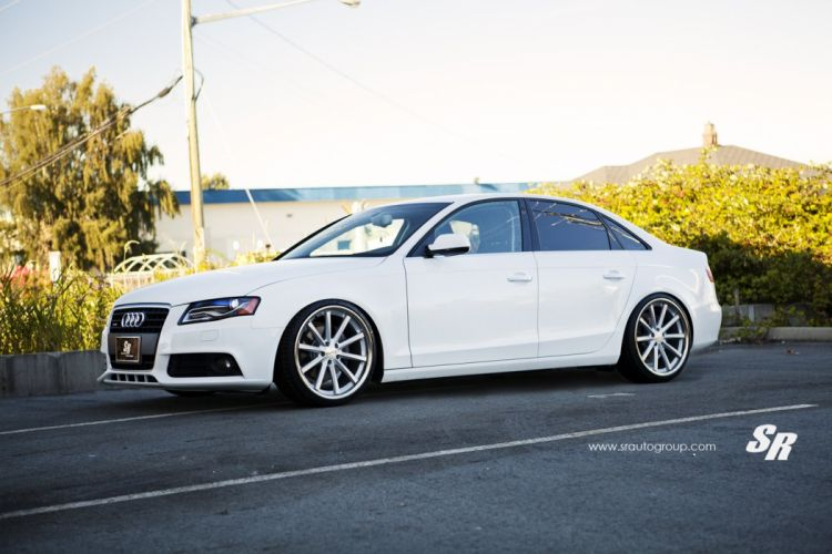 cars audi a4 sedan pur Tuning wheels white wallpaper