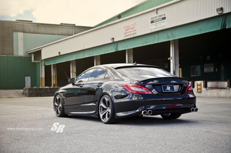 mercedes cls black cars pur wheels tuning wallpaper