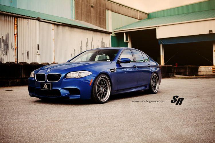 bmw m5 f10 blue cars pur wheels tuning wallpaper
