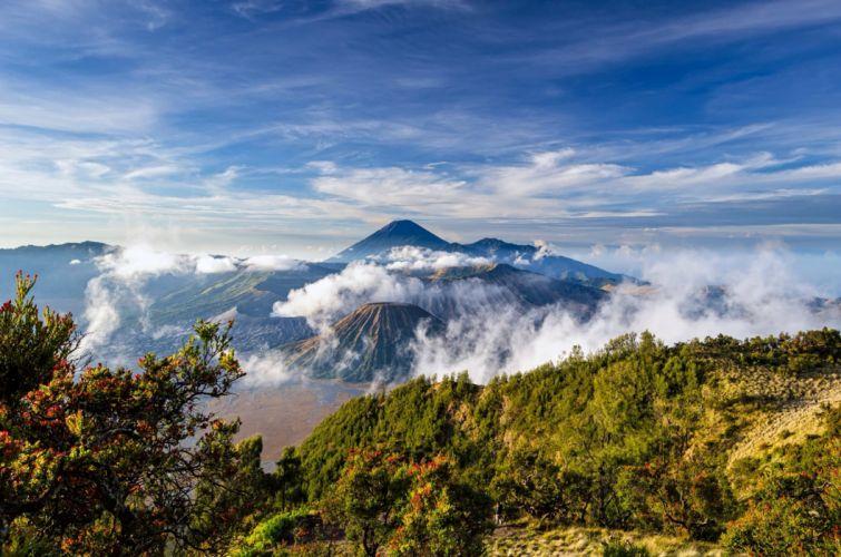 Mount Bromo Landscape Volcano Indonesia Java Stratovolcano wallpaper