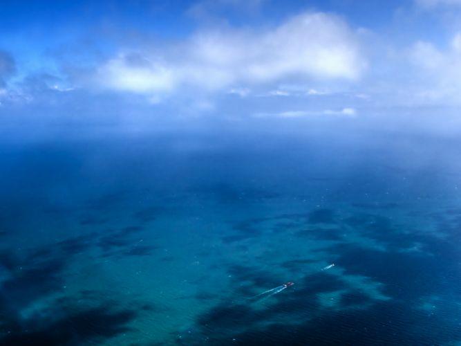 Ocean Aerial Cloud Sea Seascape wallpaper