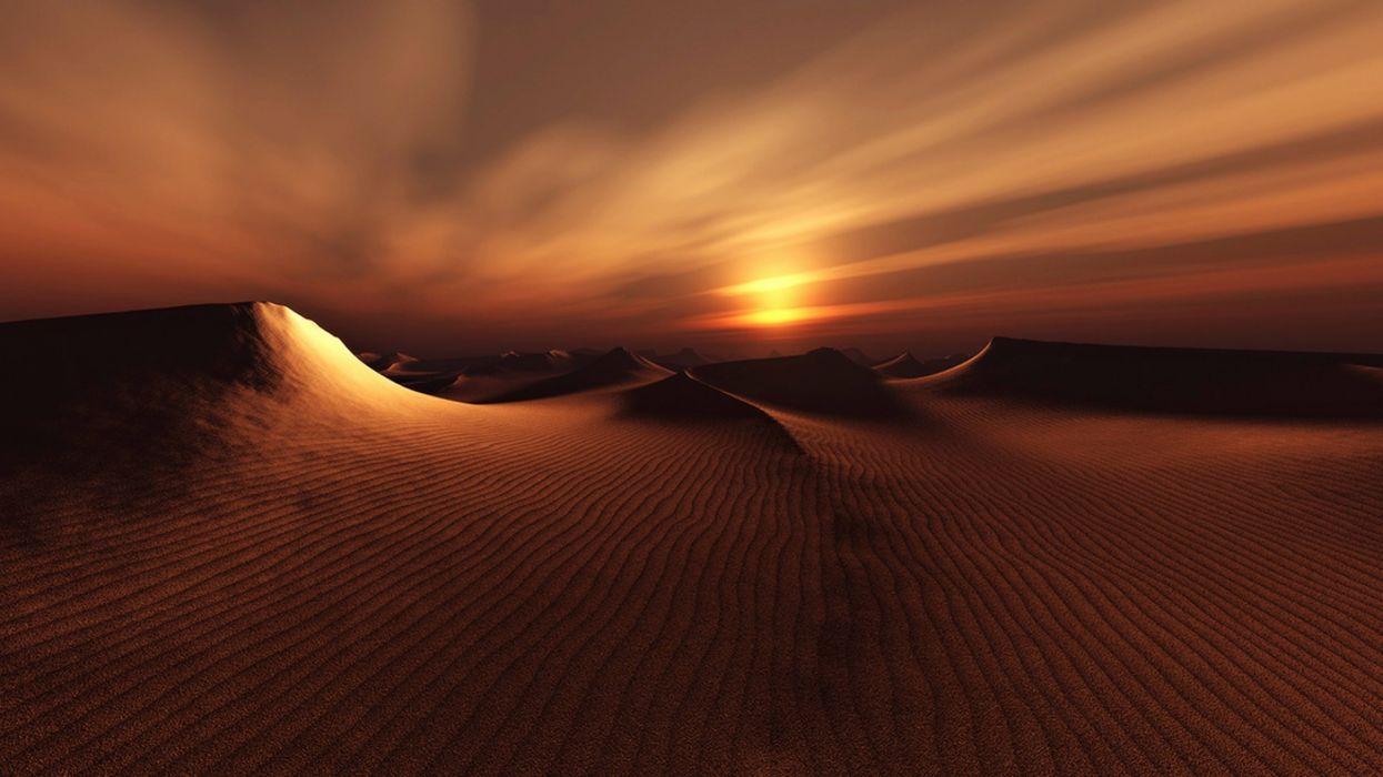 Earth Nature Sand Dune Landscape Sunset Desert wallpaper