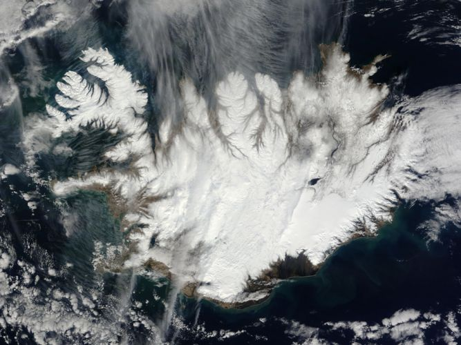 Island Nasa Aerial From Space Iceland wallpaper