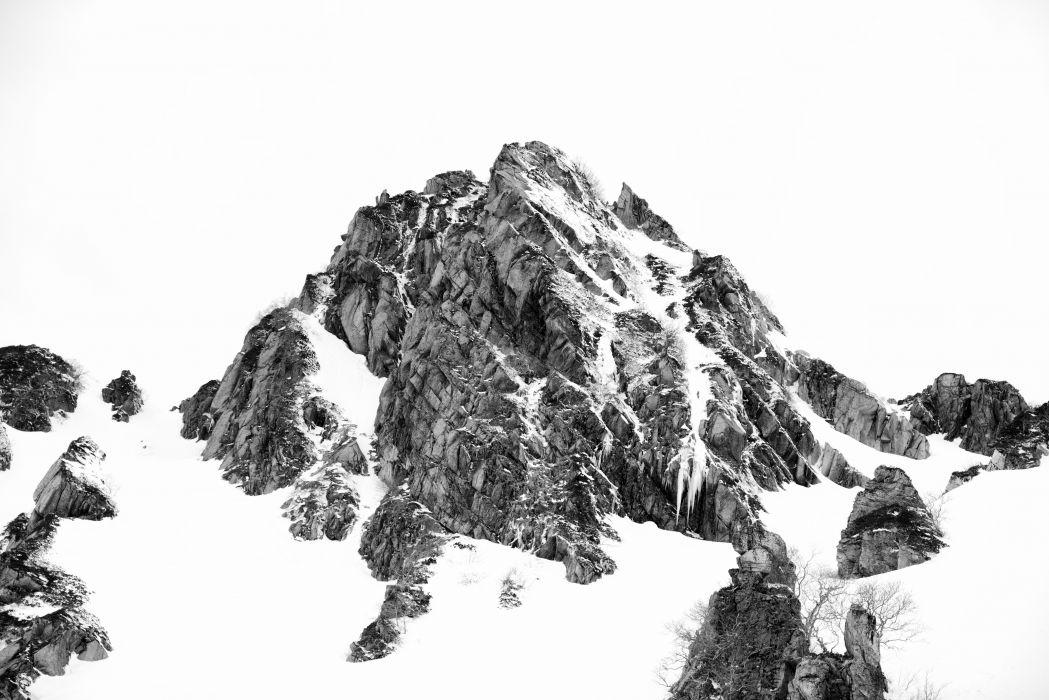 Rock Snow Nature Mountain winter wallpaper