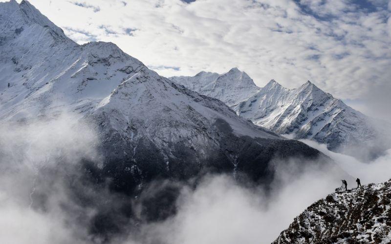 Cloud Nature Landscape Mountain snow winter wallpaper