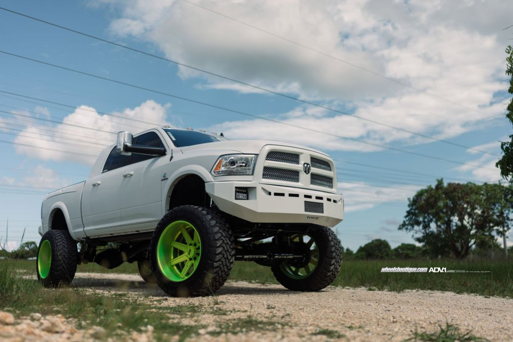ADV 1 WHEELS GALLERY cars pickup DODGE RAM 2500HD 4x4 all road tuning white wallpaper