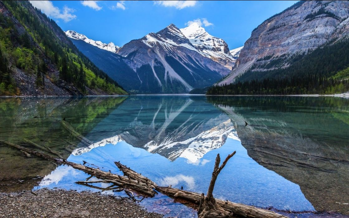 Wood Forest Cliff Mountain Landscape Reflection Water Lake Nature wallpaper