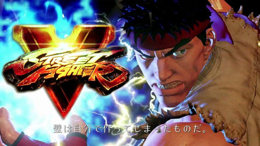 STREET FIGHTER V action fighting warrior battle five arena martial arts 1sfv fantasy playstation sony poster wallpaper