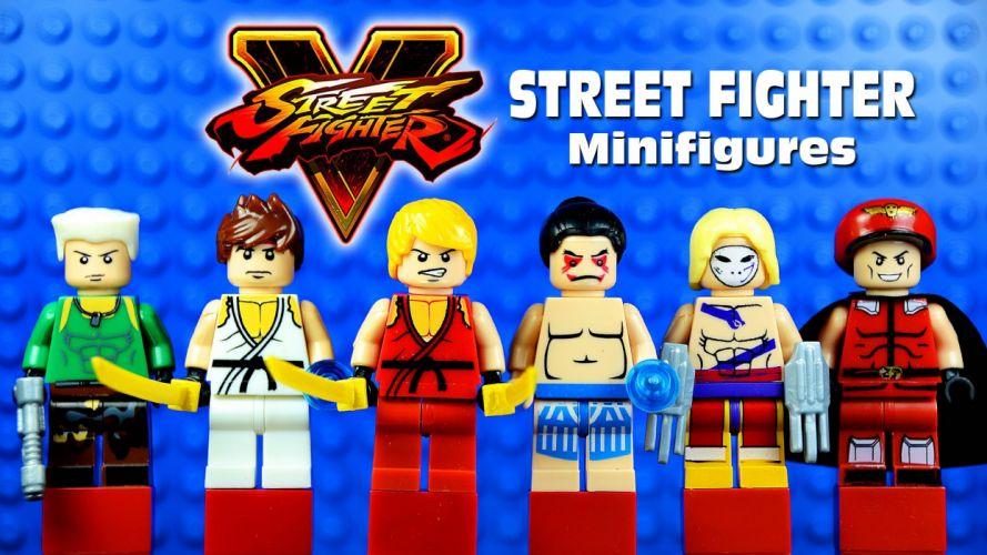 STREET FIGHTER V action fighting warrior battle five arena martial arts 1sfv fantasy playstation sony lego wallpaper