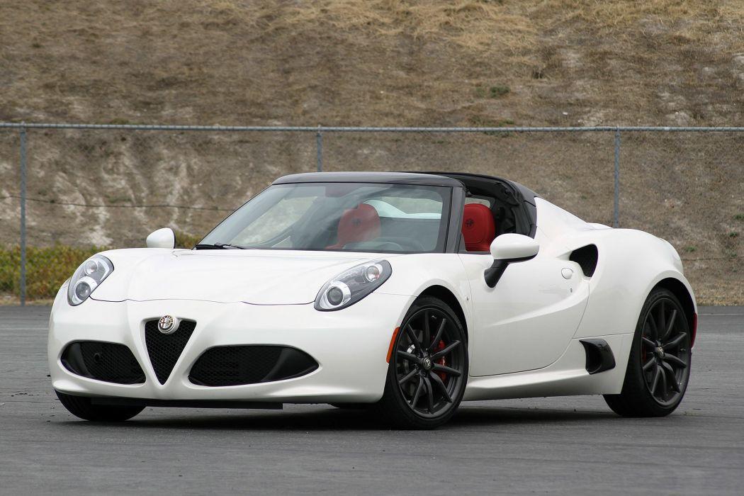 2015 Alfa Romeo 4C-Spider cars white wallpaper