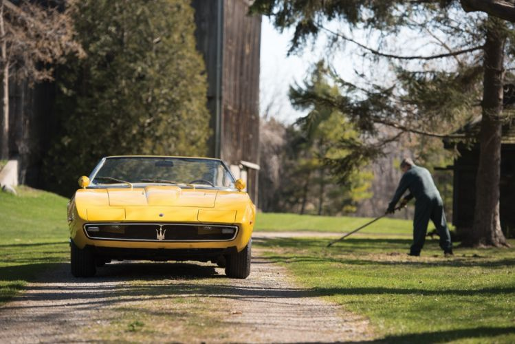 Maserati Ghibli Spyder Prototipo 1968 cars yellow classic wallpaper