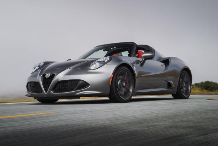2015 Alfa Romeo-4C Spider US-spec cars wallpaper