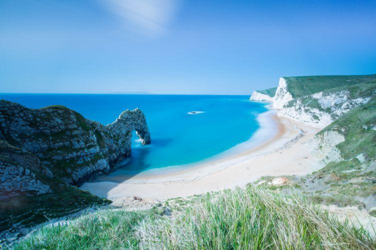 Durdle Door England Seascape Cliff Coast Shore Sea Dorset beach ocean wallpaper