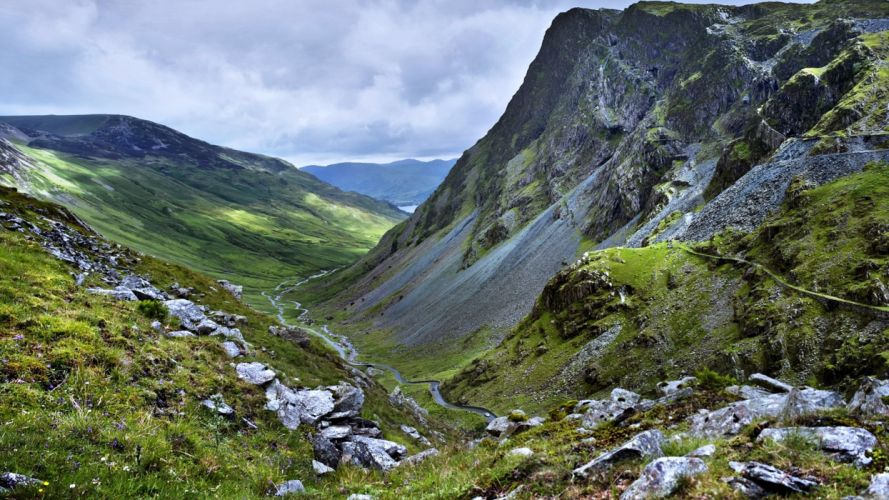 Road Nature Mountain Hill Landscape wallpaper