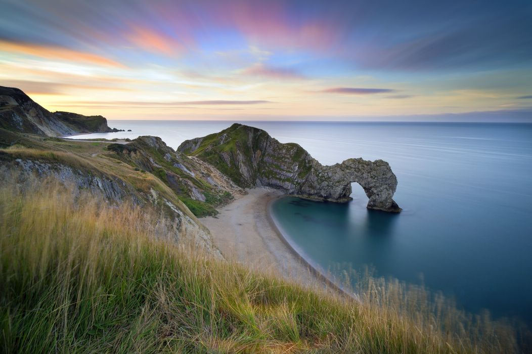 Sea Limestone Cliff Shore Jurassic Coast England Dorset Durdle Door ocean sea beach wallpaper