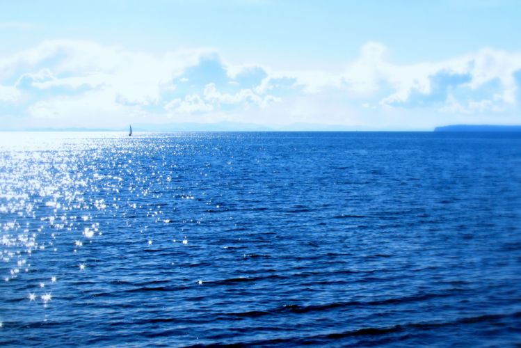 Ocean Sea Sunny Landscape Nature wallpaper