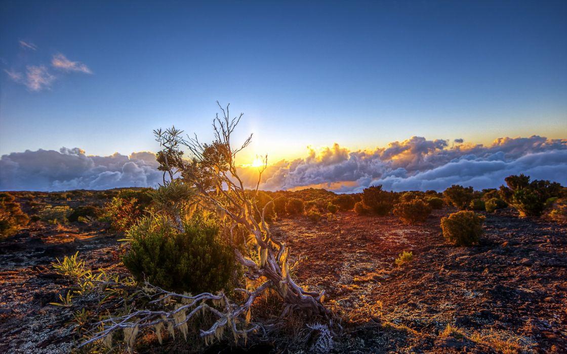 desert sunrise sunset sky clouds wallpaper