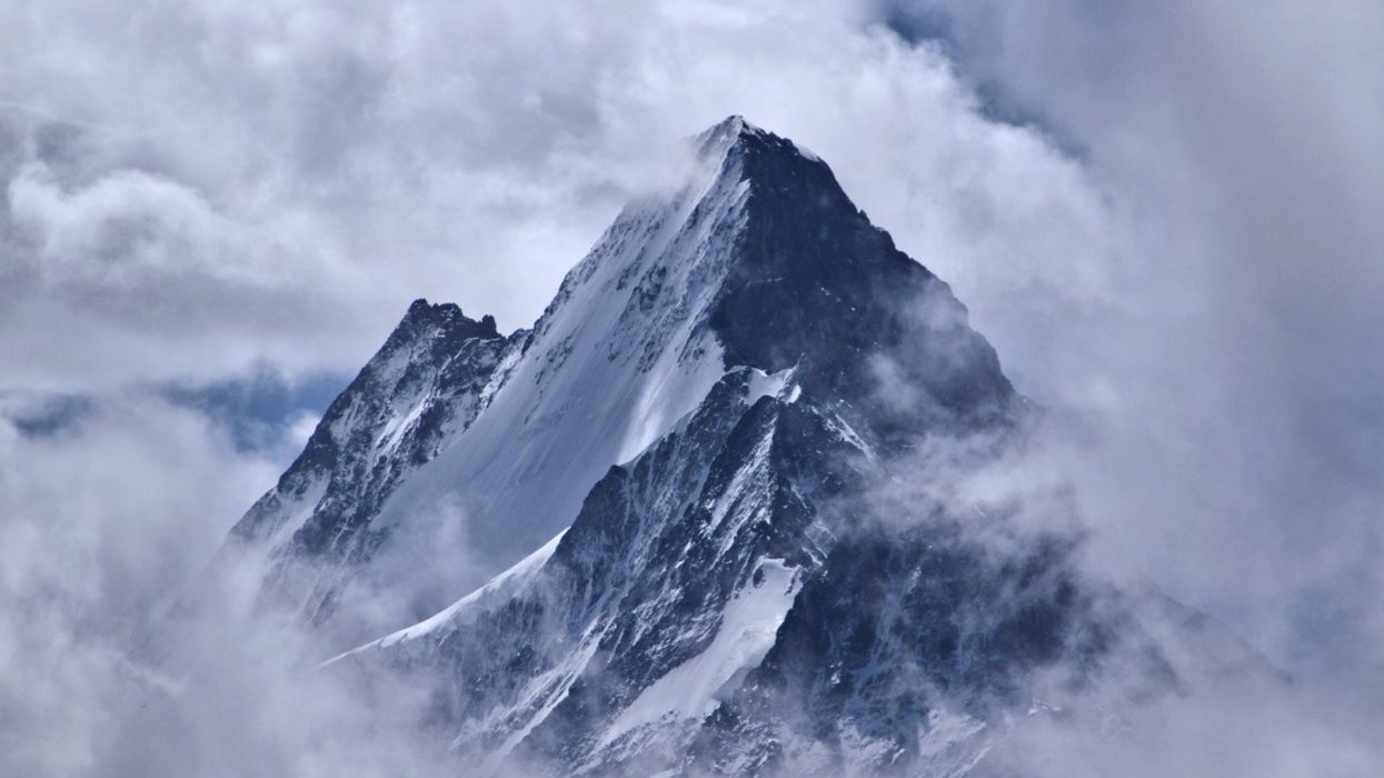 Snow Mountain Clouds Winter Nature Landscape wallpaper