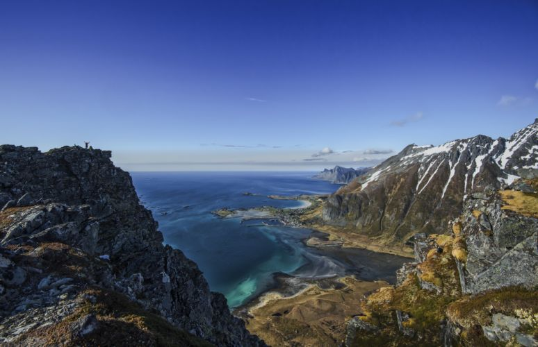 Arctic Scandinavia Volandstinden Seashore Lofoten Islands Norway Coastline wallpaper