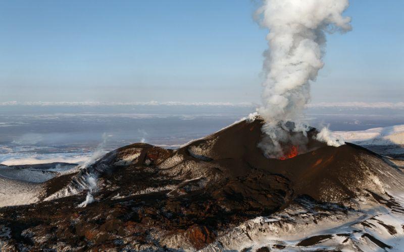 Eruption Stratovolcano Kamchatka Peninsula Volcanic Complex Russia Kamchatka Volcano Tolbachik lava wallpaper