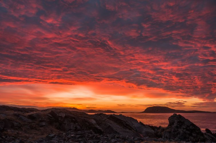 Clouds Sky Norway Shore Landscape Sunset wallpaper