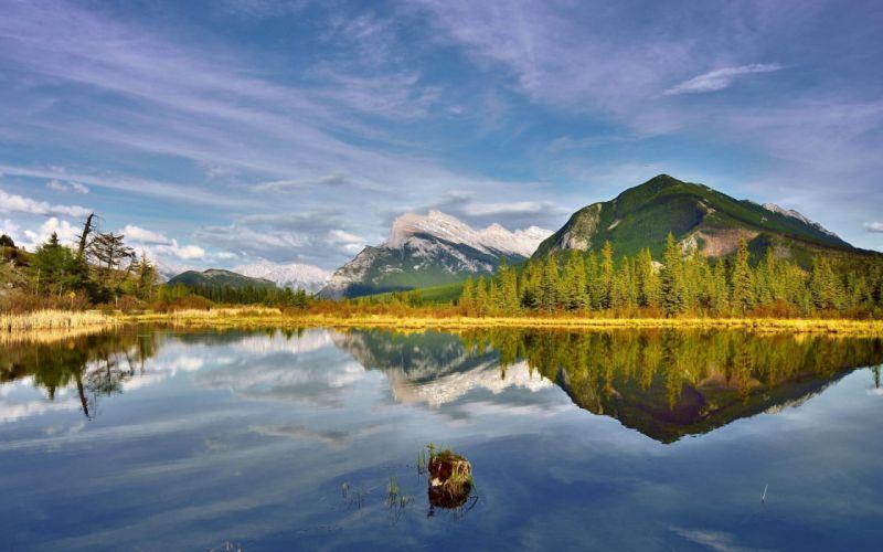 Reflection lake landscape nature wallpaper