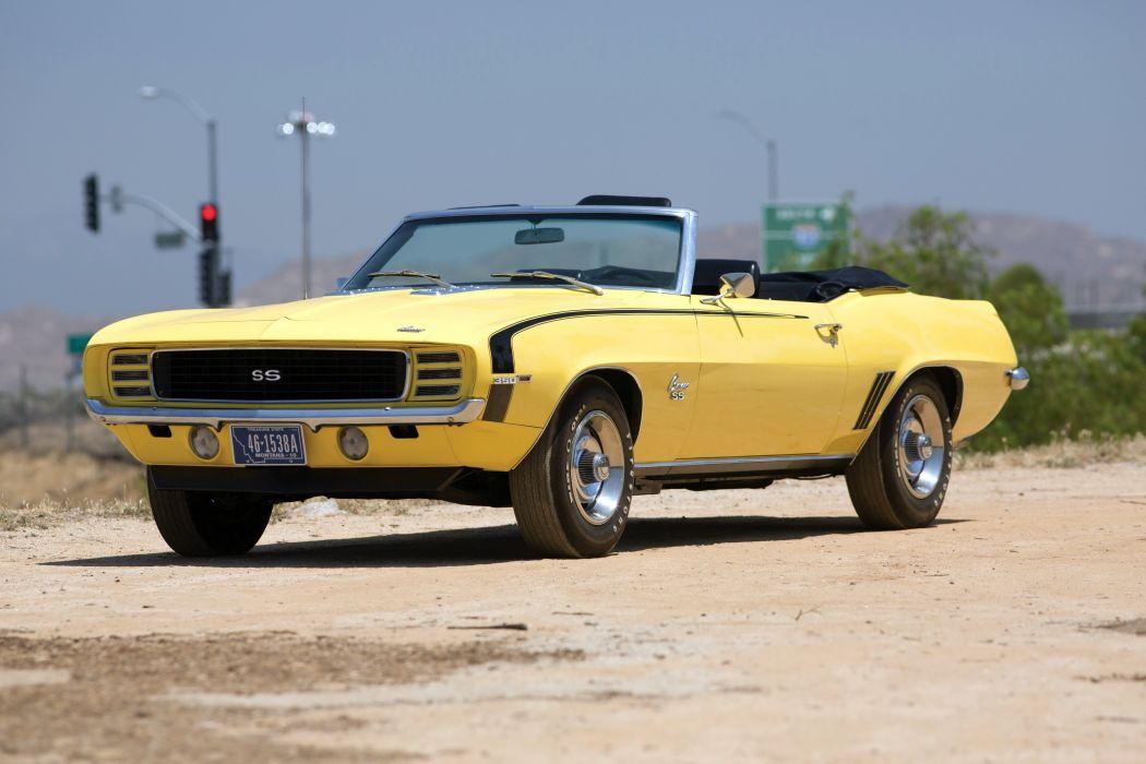 SS 350 Convertible yellow classic cars wallpaper