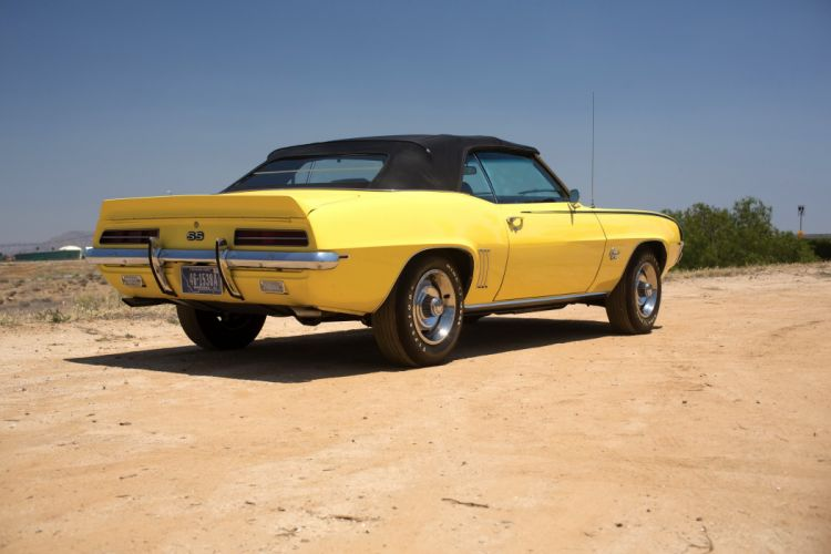 SS 350 Convertible yellow classic cars wallpaper
