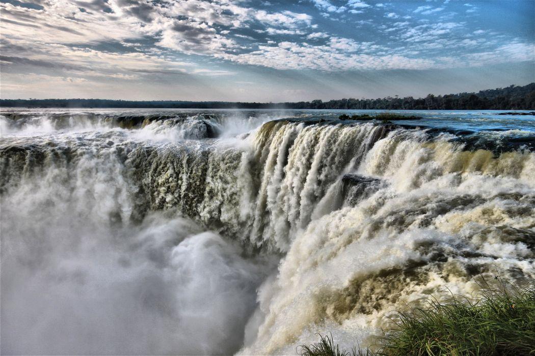 Parana Argentina Waterfall Pantanal Brazil Iguazu Falls Iguazu river wallpaper