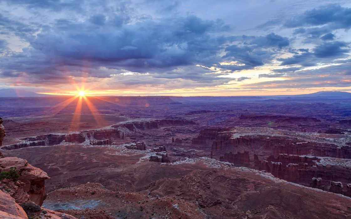 Sunrise sunset desert landscape nature sky clouds sun sunbeam sunlight wallpaper